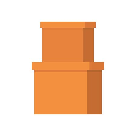 office carton boxes isolated icon vector illustration design