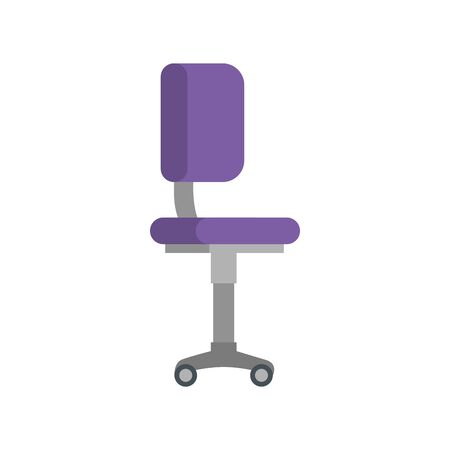 office chair equipment isolated icon vector illustration design Illustration