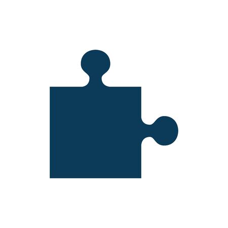 puzzle game piece isolated icon vector illustration design