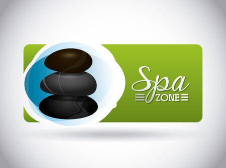 spa zone design, vector illustration graphic