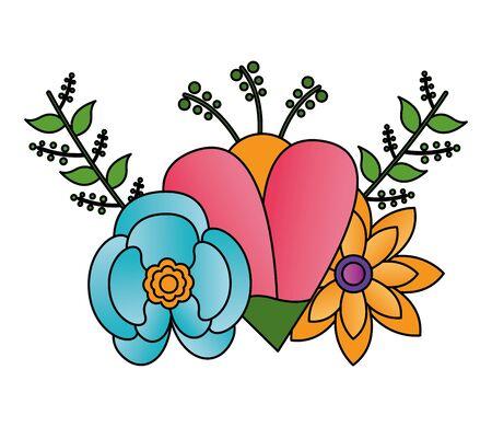 arrangement floral flowers ornament decoration vector illustration design Stok Fotoğraf - 129491066