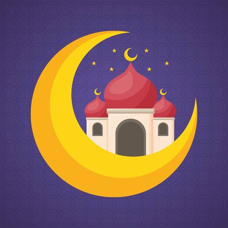 taj mahal half moon islamic vector illustration design Stok Fotoğraf - 129491085