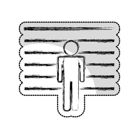 prisoner avatar silhouette icon vector illustration design Standard-Bild - 129491092