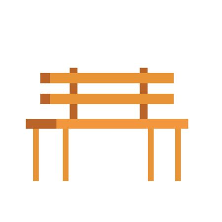 wooden park chair classic icon vector illustration design Foto de archivo - 129491115