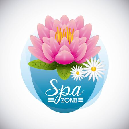 spa zone design, vector illustration eps10 graphic