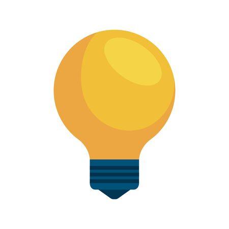 bulb light think idea icon vector illustration design  イラスト・ベクター素材