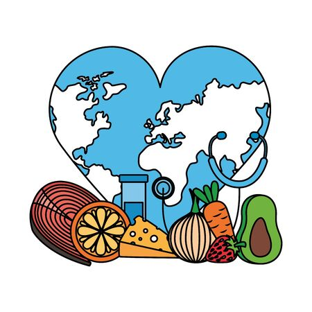 heart shaped world health day vector illustration