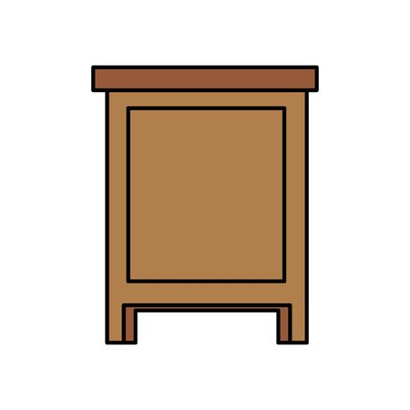wooden drawer forniture isolated icon vector illustration design Stock Vector - 129491167