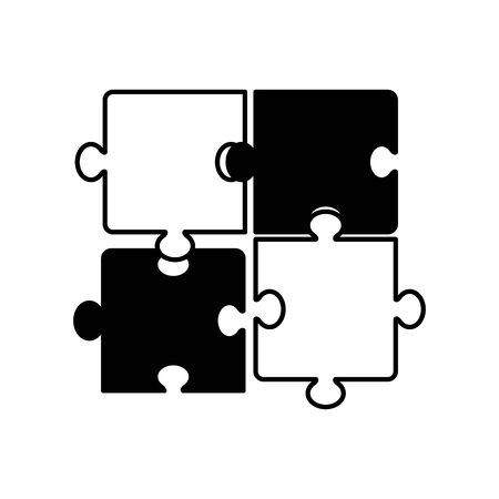 puzzle game pieces isolated icon vector illustration design Stok Fotoğraf - 129491163