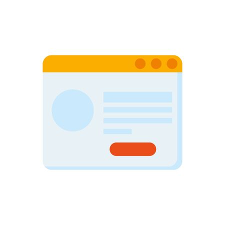 web page template isolated icon vector illustration design 일러스트