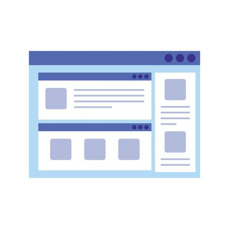 web page template isolated icon vector illustration design Ilustração