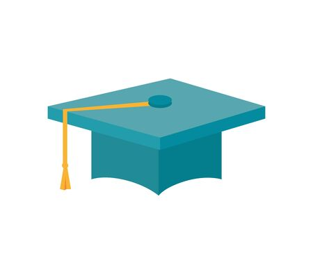 graduation hat education isolated icon vector illustration design 写真素材 - 129491192