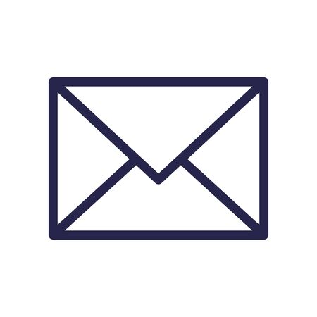 envelope mail message isolated icon vector illustration design  イラスト・ベクター素材