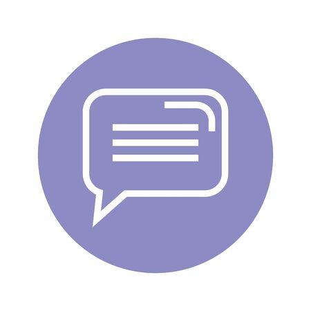 speech bubble message isolated icon vector illustration design Ilustrace