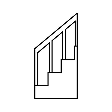 house stairs steps isolated icon vector illustration design