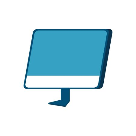 computer desktop device isolated icon vector illustration design Ilustrace