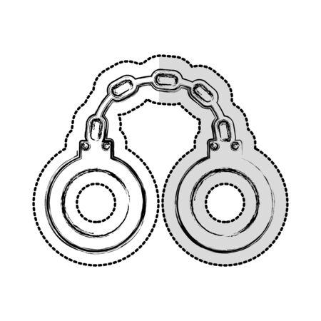 handcuffs justice isolated icon vector illustration design Standard-Bild - 129499417