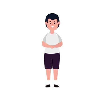 cute little boy avatar character vector illustration design Stock Illustratie