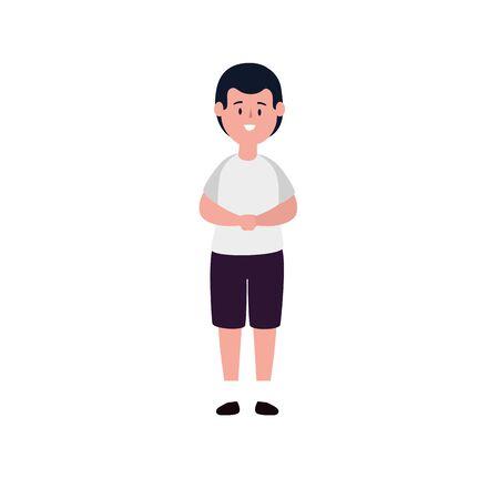 cute little boy avatar character vector illustration design Illustration