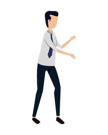 elegant young businessman avatar character vector illustration design
