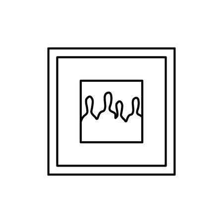 square picture decoration isolated icon vector illustration design Stock Illustratie