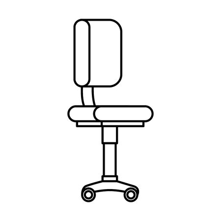 office chair equipment isolated icon vector illustration design Banque d'images - 129500441