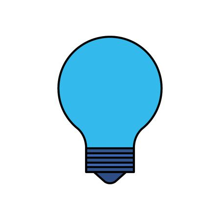 bulb light idea think icon vector illustration design