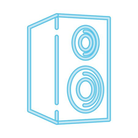 speaker sound music volume neon vector illustration