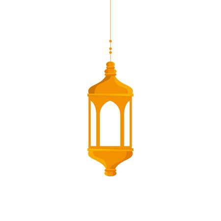 ramadan kareem lantern hanging icon vector illustration design 스톡 콘텐츠 - 129500766