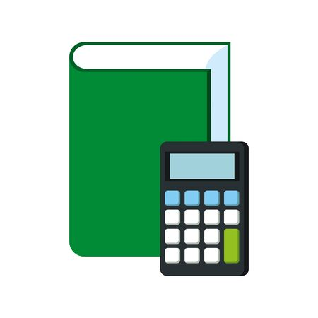 text book education with calculator vector illustration design