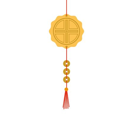 chinese mandala decorative hanging icon vector illustration design