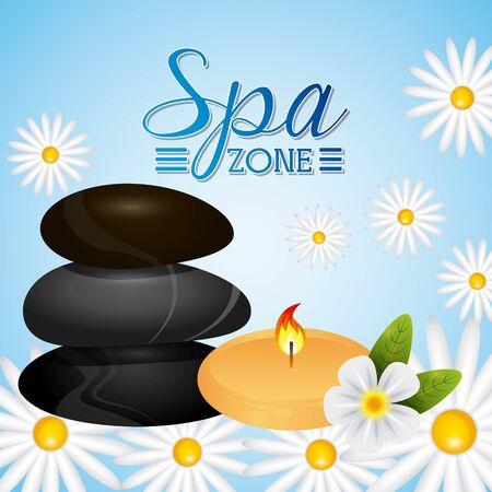 spa zone design, vector illustration graphic