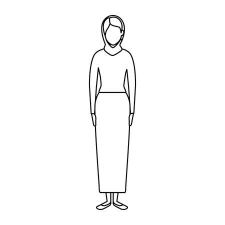 islamic woman with traditional burka vector illustration design Ilustração