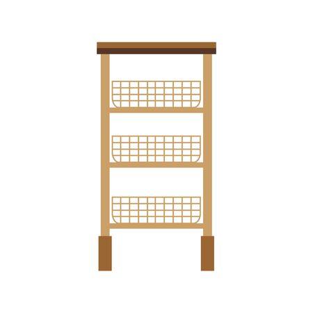 office documents shelf baskets icons vector illustration design