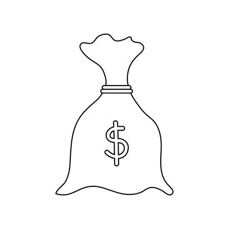 money bag economy isolated icon vector illustration design