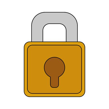 Padlock design, Key security lock access door house safe and secret theme Vector illustration Illustration