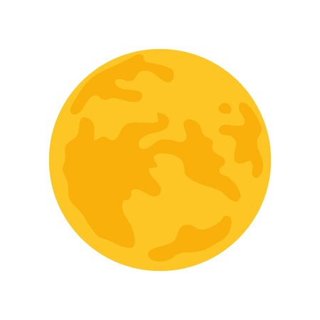 cute full moon isolated icon vector illustration design