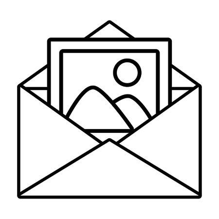 envelope picture media web send email vector illustration