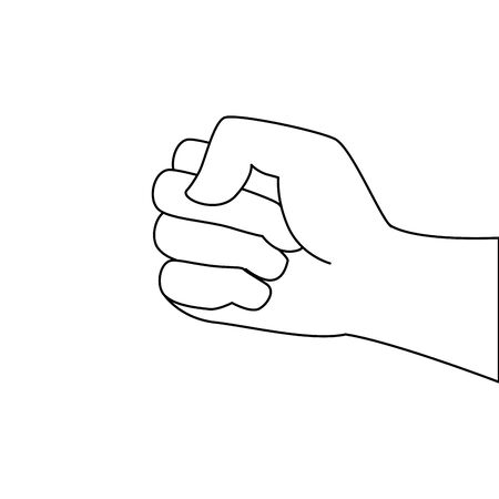hand human fist power icon vector illustration design