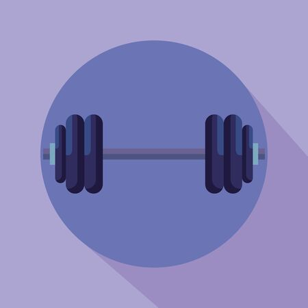 weight activity and healthy sport balance to fitness lifestyle, vector illustration