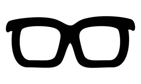 sunglasses accessory on white background vector illustration