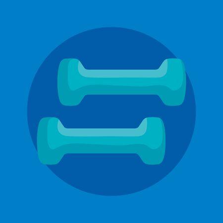 dumbbells activity over blue background to fitness lifestyle, vector illustration Reklamní fotografie - 129501903