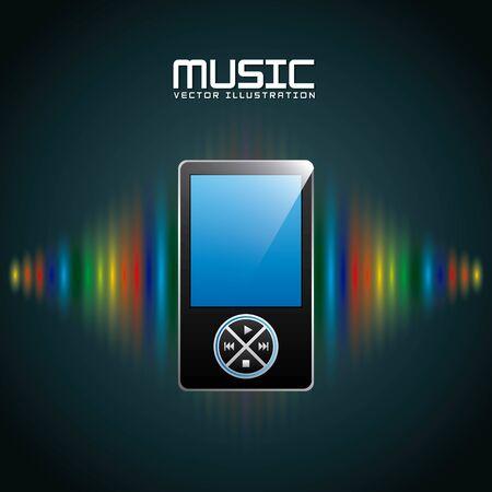 digital music design, vector illustration graphic