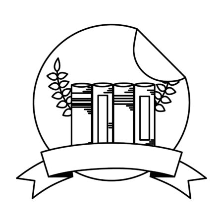 books school supplies teacher day sticker vector illustration Ilustração