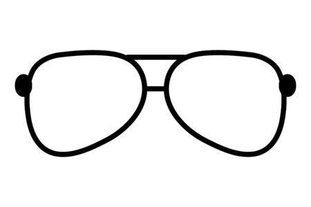 sunglasses vision accessory on white background vector illustration Ilustrace