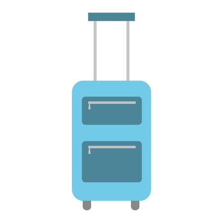 suitcase handle and wheels accessory vector illustration