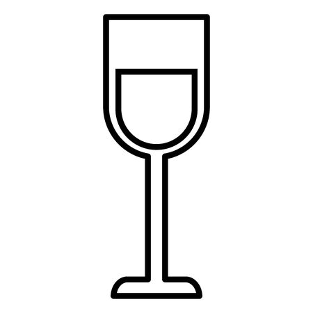 wine glass cup drink on white background vector illustration white and black