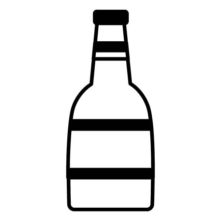 wine bottle drink on white background vector illustration white and black Stock Illustratie