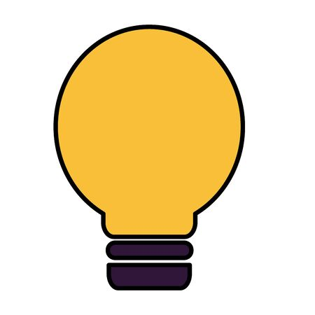 light bulb energy power icon vector illustration Imagens - 129501648