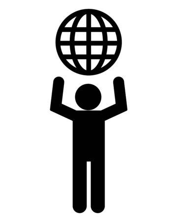 man world eco friendly environment vector illustration